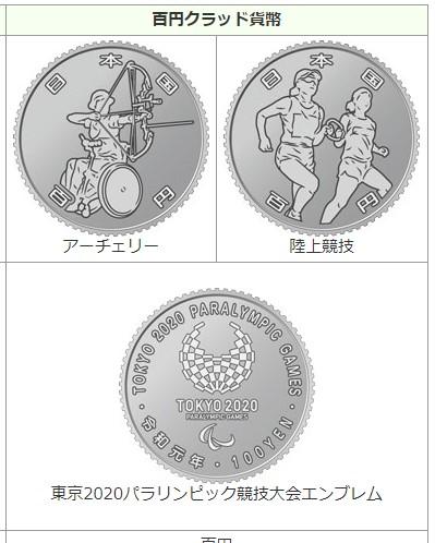2020年1月28日(火)に発行されるパラリンピック記念硬貨は、アーチェリー・陸上競技の2種類