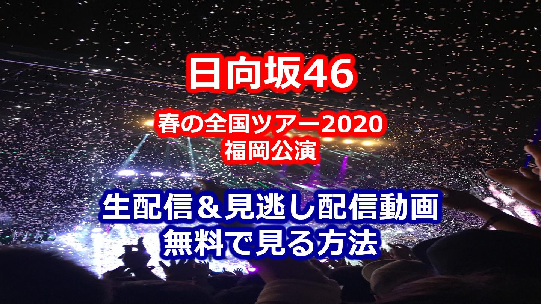 日向坂46春の全国ツアー2020福岡公演生配信&見逃し配信動画を無料で見る方法
