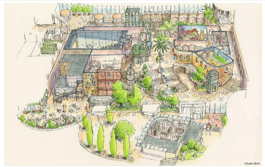 2022年秋開業のジブリパーク「ジブリの大倉庫」エリアデザイン