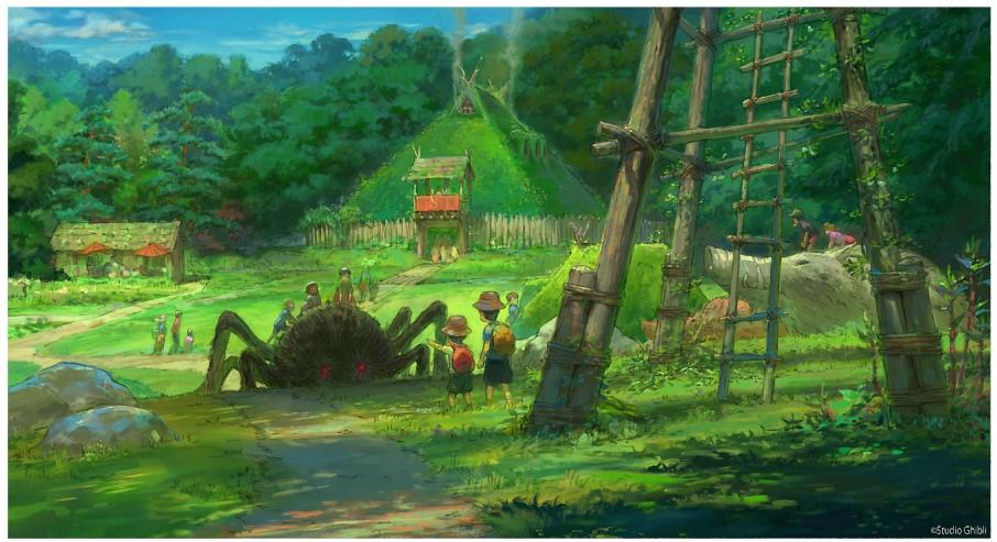 2022年秋開業のジブリパーク「もののけの里」エリアのイメージデザイン