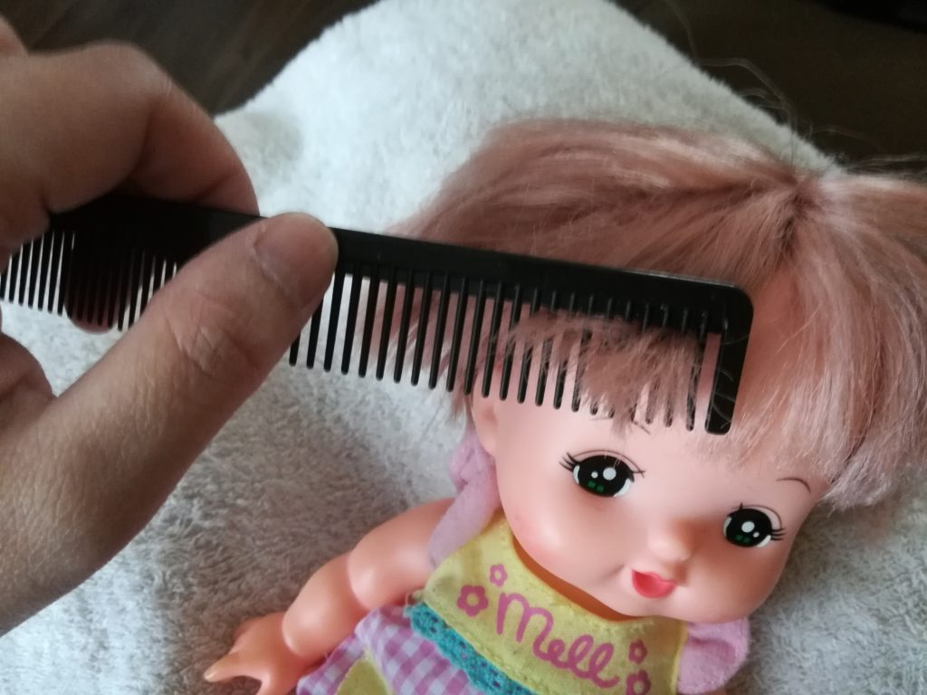 前髪も忘れずにとかしましょう