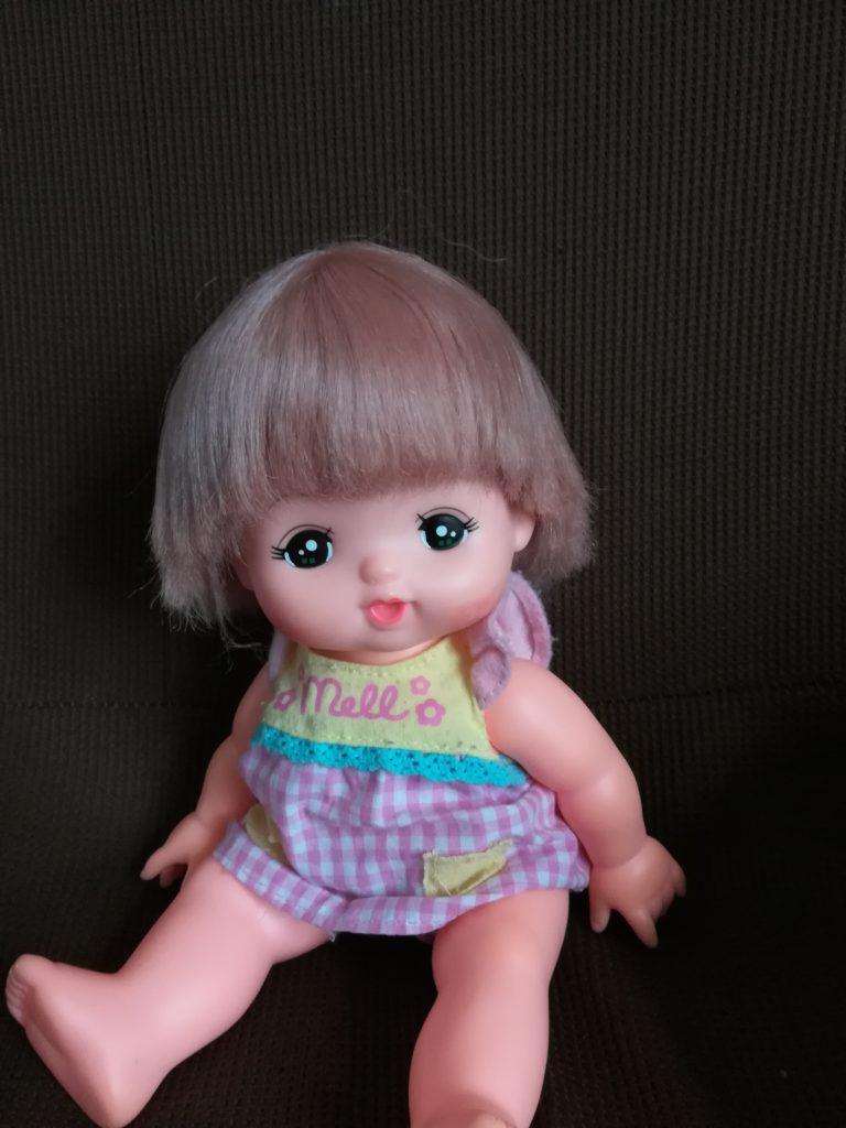 ボサボサからサラサラに戻ったメルちゃんの髪の毛