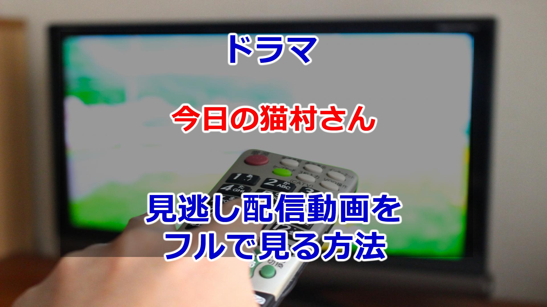 2020春ドラマ今日の猫村さん見逃し配信動画を無料でフル視聴する方法