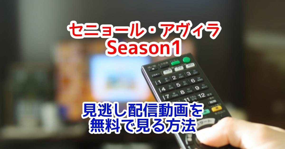 セニョール・アヴィラSeason1の見逃し配信動画を1話から最新話まで無料視聴する方法