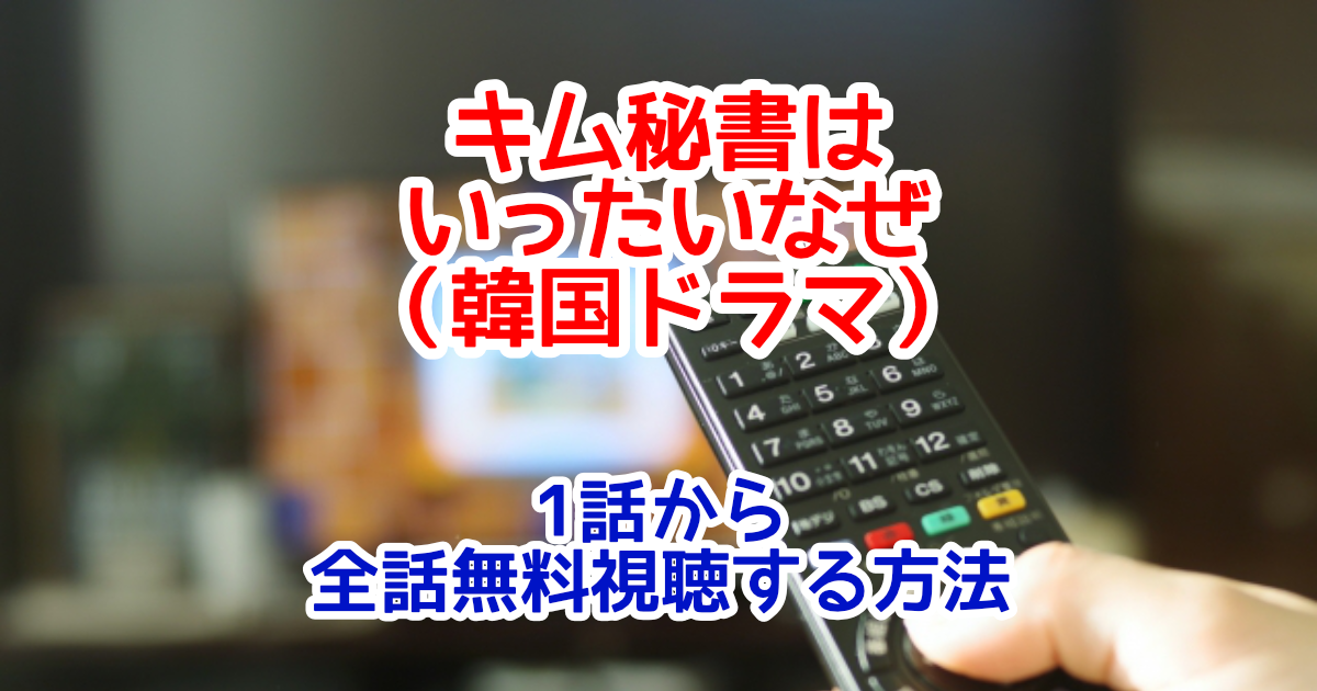キム秘書はいったいなぜ(韓国ドラマ)字幕付きフル動画配信を1話から全話無料視聴する方法