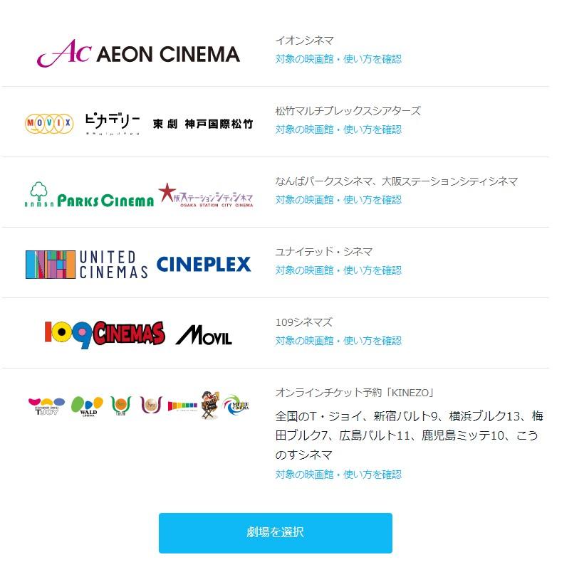 U-NEXTのポイントは映画館の割引にも使えます