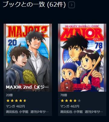 U-NEXTではメジャーシリーズのコミックスも配信中!